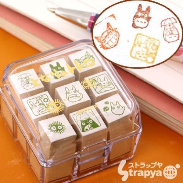 Studio Ghibli Mein Nachbar Totoro Mini Stempel Set (9 Briefmarken)