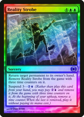 Reality Strobe FOIL Future Sight NM Blue Uncommon MAGIC MTG CARD ABUGames