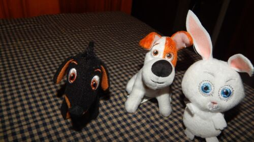 THE SECRET LIFE OF PETS  MAX,BUDDY & SNOWBALL LOT McDONALDS HAPPY MEAL TOYS GUC
