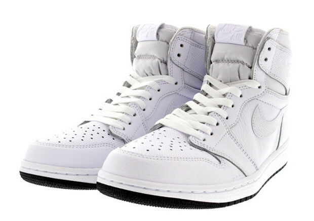 Nike Air Jordan 1 Retro High OG SZ 10.5 White Black 555088-100