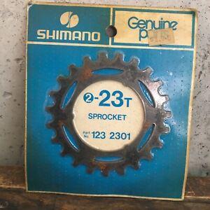 Vintage-Shimano-Freewheel-23t-Sprocket-23-Tooth-Part-123-2301-NEW-NOS