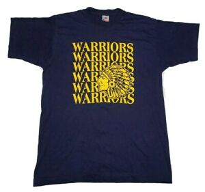 VTG-Native-American-034-Warriors-034-t-shirt-Single-Stitch-USA-Made-Large