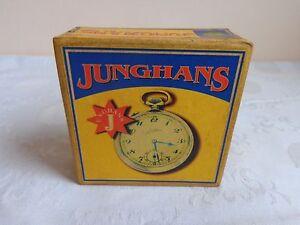 """Handgefertigt Taschenuhr Box """"junghans"""" Karton Uhrenboxen Uhren Schatulle Kasten SchöNer Auftritt"""