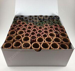 20 ~ Quarter Square Roll Coin Tube Roller w// Heavy Duty Blue Storage  Box