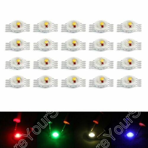 5W LED Beads Leuchtdioden Hohe Power Chip Whi Rot Blu Grn IR Spectrum DE