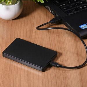 "Black External Backup Hard Drive Case 2Tb Usb 3.0 Enclosure 2.5"" Portable Hdd"