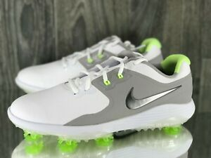 Nike Men S Vapor Pro Golf Shoes Spiked Size 9 White Grey Volt Aq2197 103 Ebay