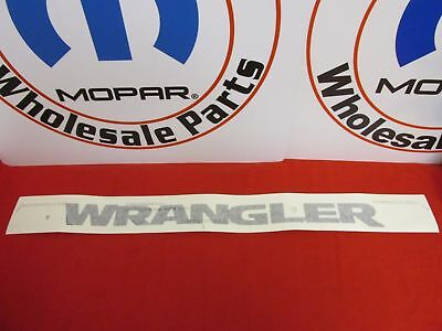"""JEEP Wrangler Low Gloss Black /""""WRANGLER/"""" Decal NEW OEM MOPAR"""