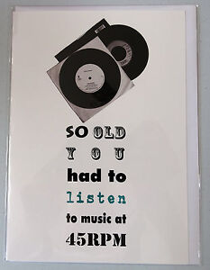 So old you had to listen to music at 45 rpm record humorous birthday image is loading so old you had to listen to music m4hsunfo