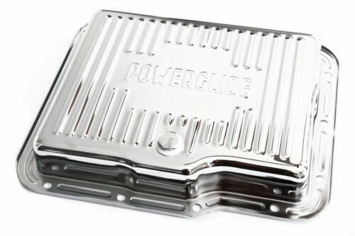 Chevy Powerglide Chrome Steel Transmission Pan Kit W// Bolts And Gasket GM