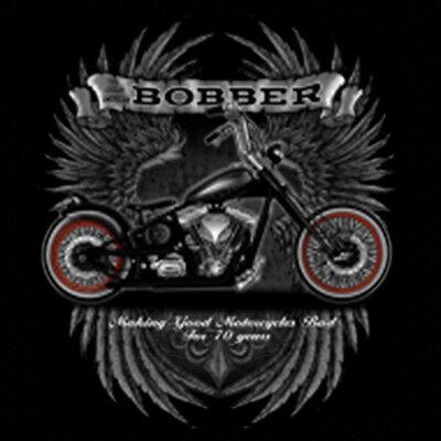 Bobber Garage Custom Motorcycles Biker Chopper Wings Hooded Sweatshirt Hoodie