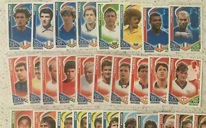 Match Attax 2010 World Cup International Legend Cardsx31 incl. Cruyff, Beckham