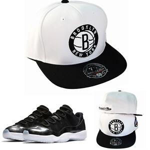 edf5fad836a Mitchell   Ness NBA Brooklyn Nets Fitted Hat Match Air Jordan 11 Low ...