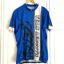 Borah Adventure Cycling Jersey Mens Medium Short Sleeve Denim Blue RUNS BIG Mt