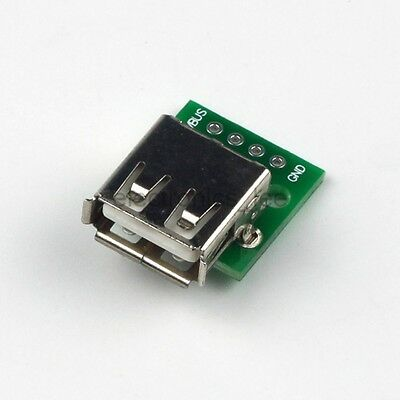 USB 2.0 Female Connetor to DIP 4pin 2.54mm Power Adapter Board