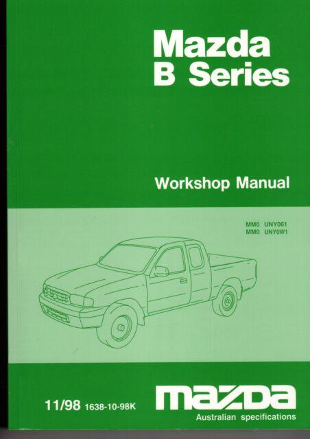 mazda b series workshop manual australian specifications 11 98 see rh ebay com au Mazda B2200 Mazda B-Series Truck Interior