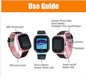 Q528 Touch Screen Kids GPS Watch Location SOS Call remote