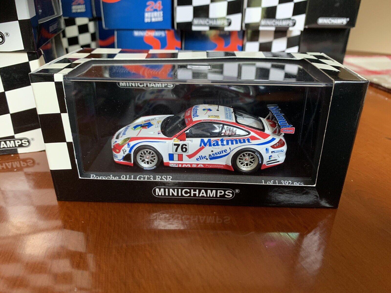Minichamps Porsche 911 GT3 RSR. 24hr Le Mans 2007. In 1 43 scale diecast