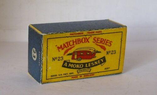 Repro Box Matchbox 1:75 Nr.23 Caravan