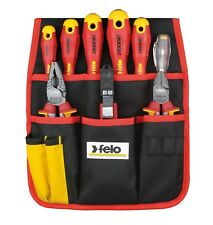 Felo 9pcs Electricians Tool Set In Belt Pouch Vde Ac 1000 V Made In Germany