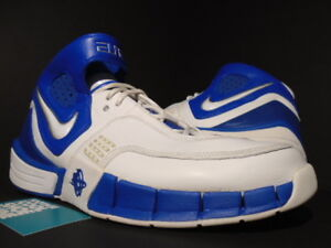 de4ec1e33830 2006 NIKE ZOOM AIR HUARACHE ELITE TB WHITE ROYAL BLUE CHROME DUKE ...