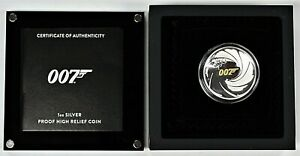 2020-1-Tuvalu-1oz-Silver-Proof-High-Relief-James-Bond-007-Includes-OGP-amp-COA