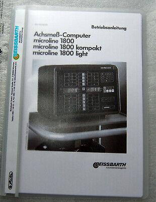 Manuale D'uso Beissbarth Achsmesscomputer Micoline 1800-itung Beissbarth Achsmesscomputer Micoline 1800 It-it Belle Arti