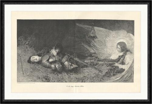 Jeanne dArc Joy Johanna von Orleans Heilige Frankreich Tod Heu  Faksimile/_C 2314