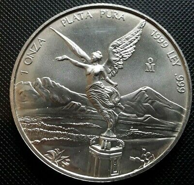 5 oz.MEXICAN LIBERTAD .999 Silver uncirculated proof in air tight capsule