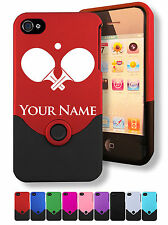 Personalized Engraved iPhone 4 4S Case/Cover - PING PONG PADDLES, TABLE TENNIS