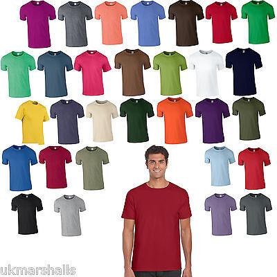 "5 Pack Gildan Softstyle Plain Mens T Shirt 100% Cotton 30 Colours Blank 36 - 52"""