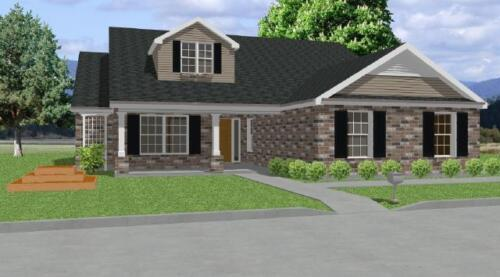 Custom House Home Building Plans Ranch 3 bed Study 1748 sf--PDF FULL PERMIT SET