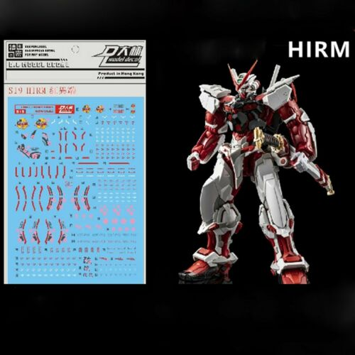 DL Water Decal Stickers for MG 1//100 HIRM MBF-P02 Gundam Astray Red Frame Model