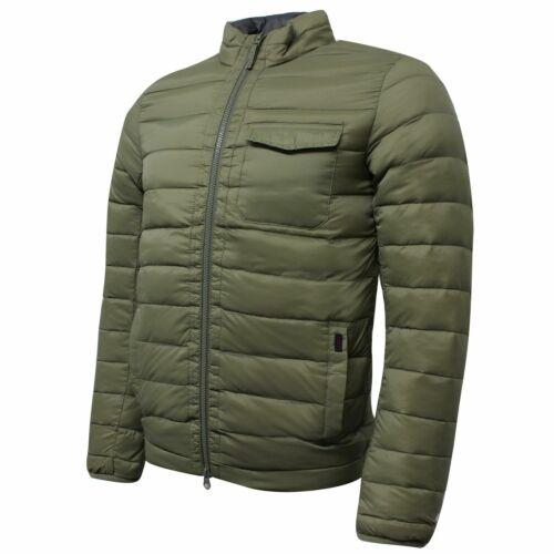 Hackett Mens Lightweight Down Jacket Zip Up Coat Khaki HM402380 665