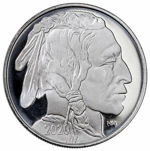 1-oz-Highland-Mint-999-Fine-Silver-Round-2020-Buffalo-Design-IN-CAPSULE