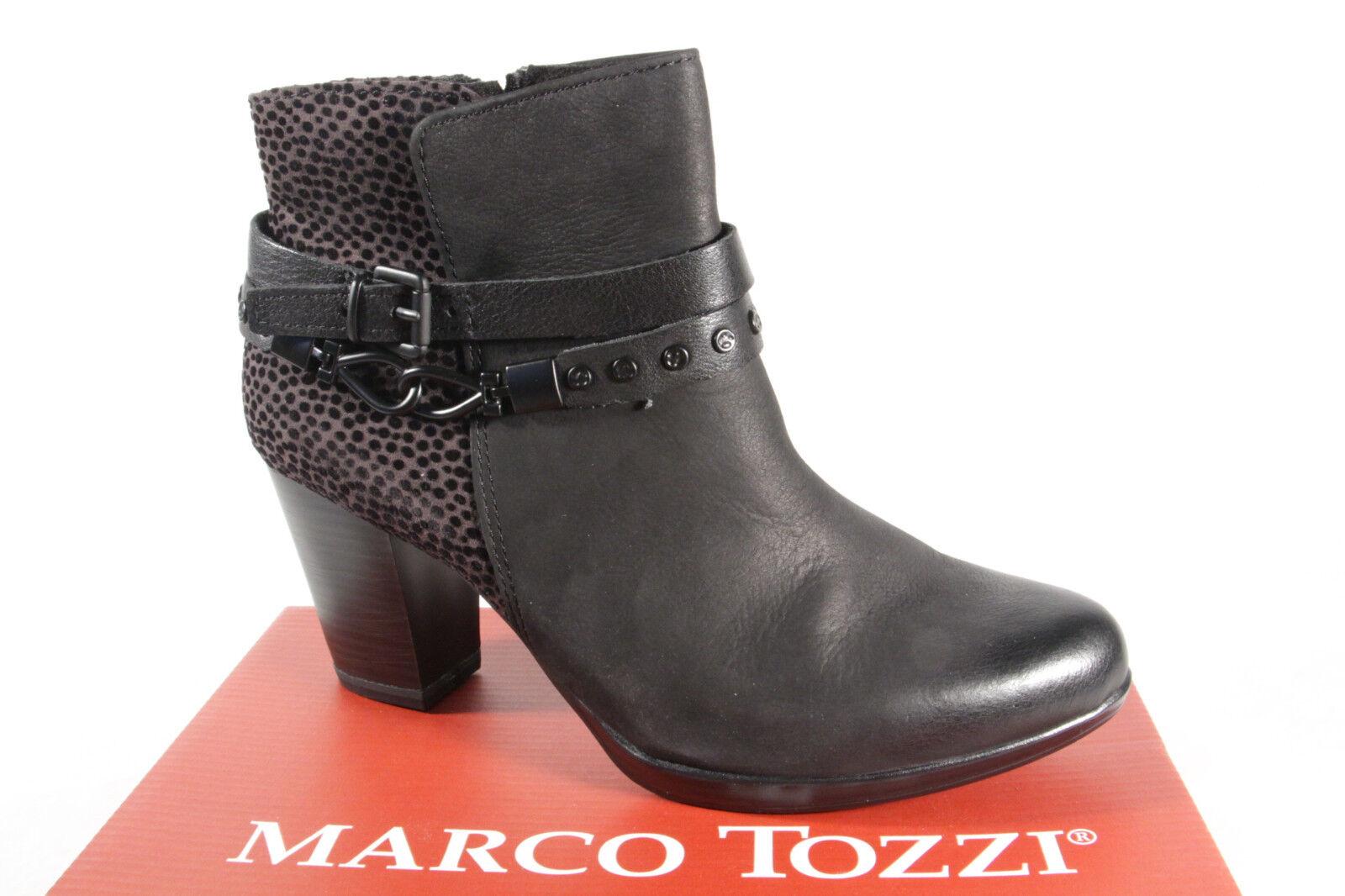 Grandes zapatos con descuento Marco Tozzi 25001 Botas mujer, Botines, Botas Negro NUEVO