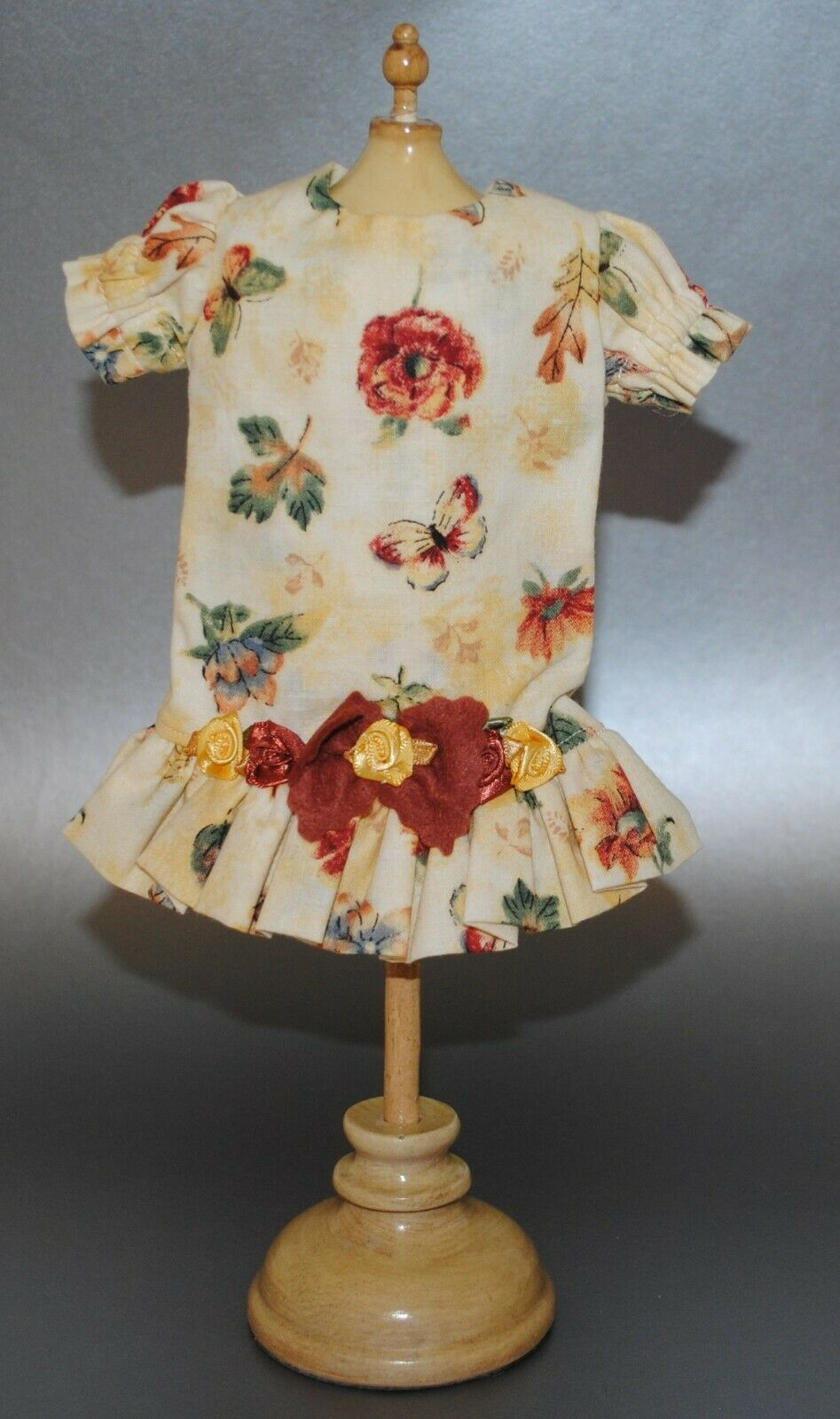 bluette Jumeau Bambola Fiore e Butterfly Dress  Fits 11   Nice  in linea