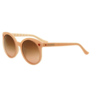 63f30889a44 Image is loading Love-Moschino-Pink-Round-Oversized-Style-Sunglasses-with-