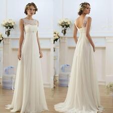 New 2017 White/Ivory Wedding Dress Bridal Gown Custom Size:6 8 10 12 14 1618  YK