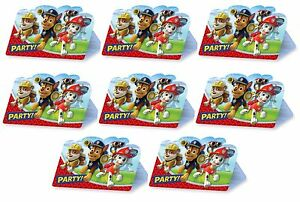 Image Is Loading 8 Paw Patrol Birthday Party Chase Amp Marshall