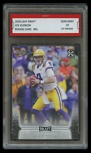 JOE-BURROW-2020-20-LEAF-DRAFT-1ST-GRADED-10-ROOKIE-CARD-CINCINNATI-BENGALS-LSU