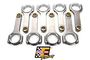 ENGINE-PRO-4340-CHEVY-SBC-FORGED-H-BEAM-6-000-034-CONNECTING-RODS-SET-ARP-BOLTS