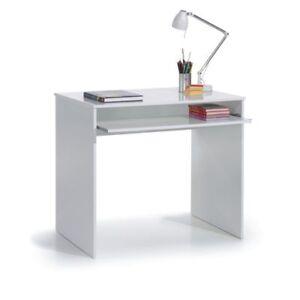 Mesa-de-escritorio-Juvenil-blanco-Bandeja-extraible-Mesa-Ordenador