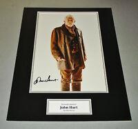 John Hurt Signed Photo 16x12 Doctor Dr Who Autograph Memorabilia Display + COA