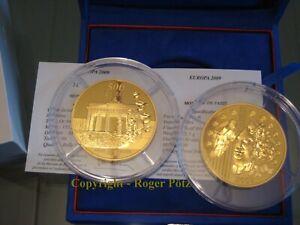 500 Euro 2009 Brandenburger Tor 20 Jahre Mauerfall 5 Unzen Gold PP