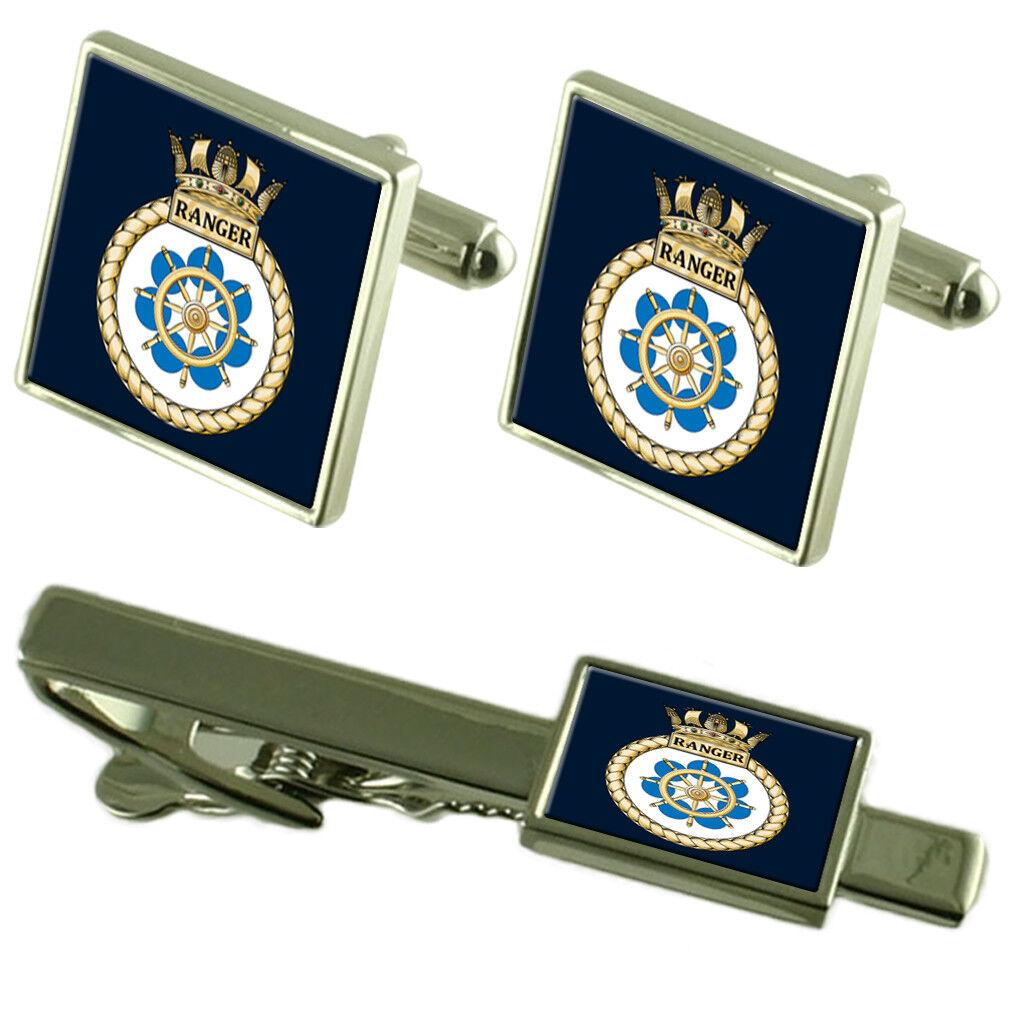 Royal Navy Navy Navy HMS RANGER Fermacravatta Gemelli Box Set 0ea3a7