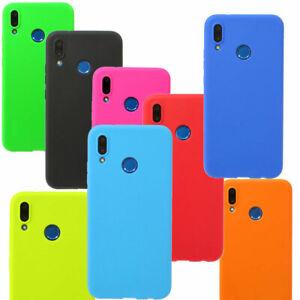 Dettagli su Pellicola vetro Custodia cover flessibile TPU CANDY per Huawei P20 Lite case
