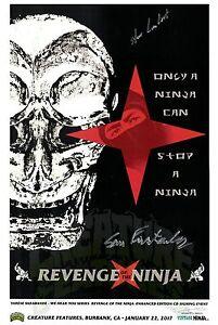 REVENGE-OF-THE-NINJA-Sho-Kosugi-1983-Art-Print-Poster-d-Signed-by-x3-DIRECTOR