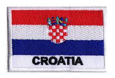 Ecusson patche drapeau patch Croatie 70 x 45 mm Pays du Monde à coudre