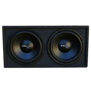 """CT Sounds Dual Bio 10"""" In V2.0 Subwoofer Bass Pack with Factory Tuned Ported Box"""